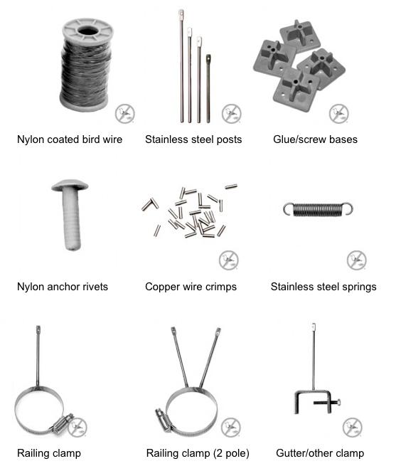 wire deterrent kit